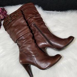 "Aldo Midcalf Leather Heeled Boots 4"" Heel"